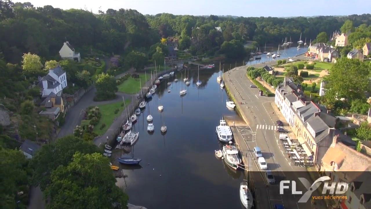 le village de pont aven film par un drone dans ciel de bretagne youtube. Black Bedroom Furniture Sets. Home Design Ideas