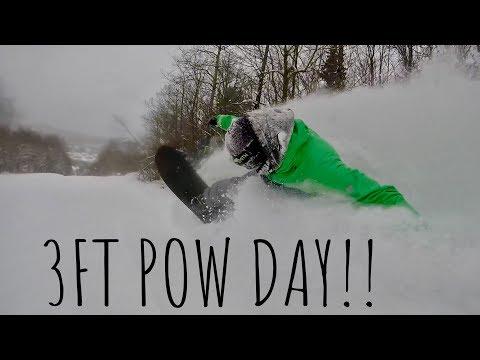 INSANE 3 FOOT POWDER DAY at MOUNT SNOW VERMONT 2018