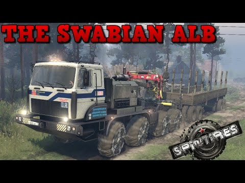 SpinTires | The Swabian Alb | Map Mod | MZKT 8x8 | Part 1