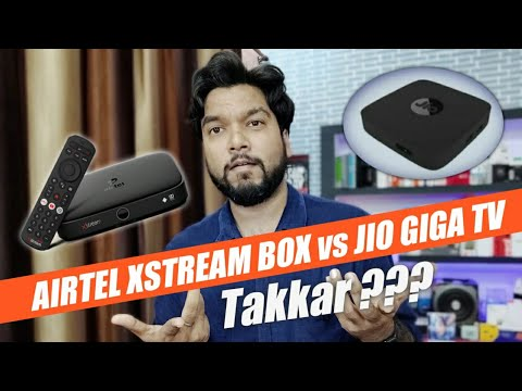 Airtel Xstream Smart Box vs Jio Giga TV Set Top Box   Which