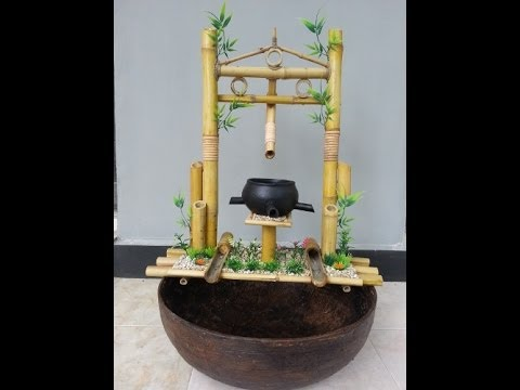 Pertamanan air mancur bambu UNIK KREATIF