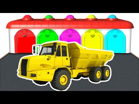 Thumbnail: Color Dump Truck in Learning Educational Video - Colors for Kids & Nursery Rhymes - Learn Numbers