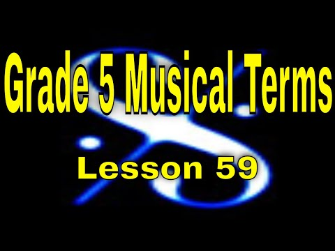 🎼Grade 5 Music Theory  Musical Terms Italian & German   Lesson 59