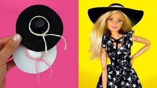 👒 DIY Barbie Hat How to Make Floppy Hats for Barbie Dolls Miniature Barbie Accessories DIY Tutorial