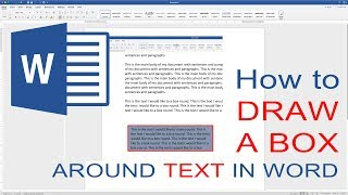 How to DRAW a box around text in WORD ¦ Tutorials for Microsoft Word