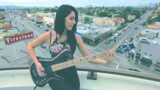 Anna Sentina - Get On the Floor Michael Jackson [Bass Cover]