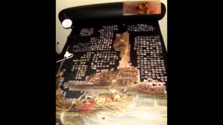 Puzzle 9000 pieces Bombardment of Algiers - left side