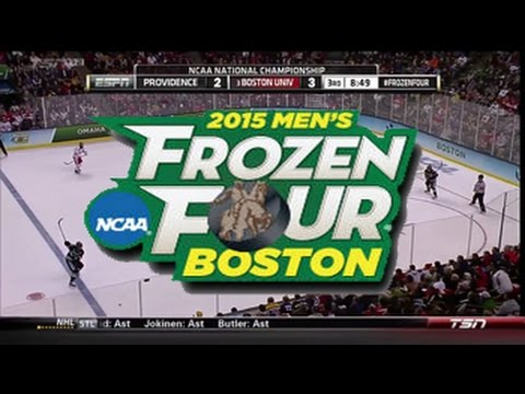 "2015 NCAA Frozen Four - the ""CRAZY"" final 12 minutes of the Ice Hockey National Championship Game"