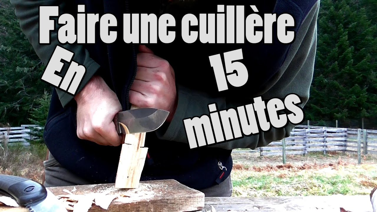 diy sculpter une cuillere en bois en 15 minutes bushcraft express cosmikvratch youtube. Black Bedroom Furniture Sets. Home Design Ideas