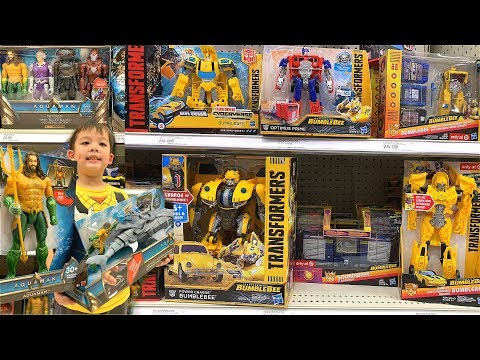 *NEW*2018 BUMBLEBEE & AQUAMAN Movie Whole Collection Found At Target! 4K TOY HUNT!