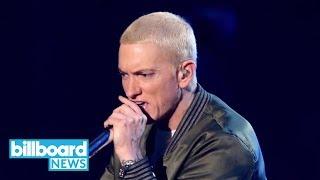 Eminem Hypes Crowd at Detroit Pistons
