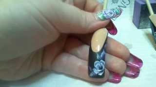 Художественная роспись ногтей ( френч).Nail art painting
