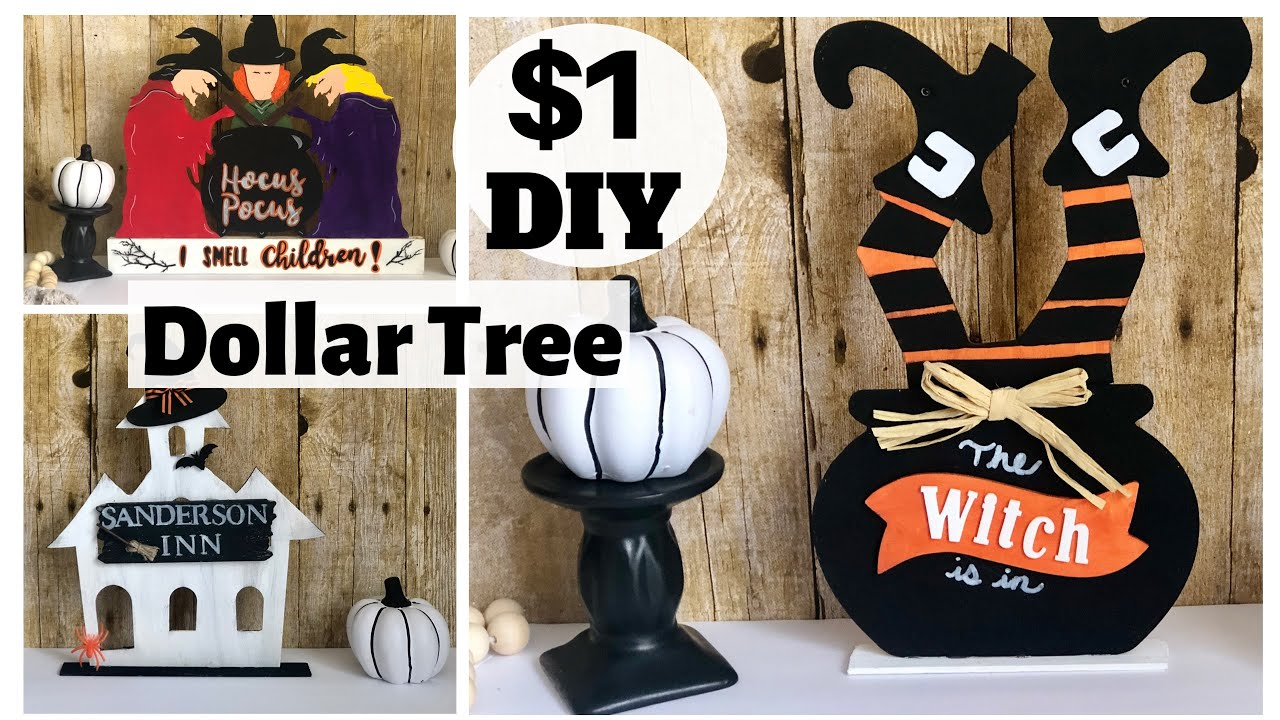 DIY Halloween Decorations| Dollar Tree DIYs | Hocus Pocus | Halloween 2020