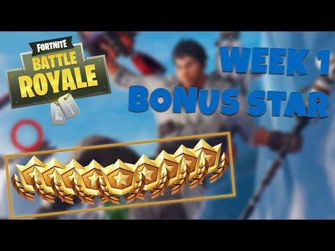 WEEK 1 BONUS STAR LOCATION – SEASON 7 | Fortnite Battle Royale