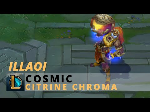 Cosmic Illaoi Citrine Chroma - League Of Legends