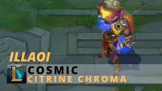 Cosmic Illaoi Citrine Chroma - League Of Legends