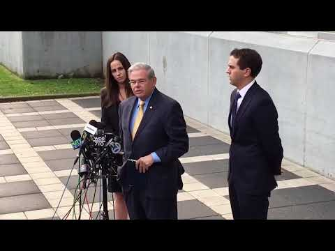 U.S. Senator Bob Menendez gives emotional speech to clear his name