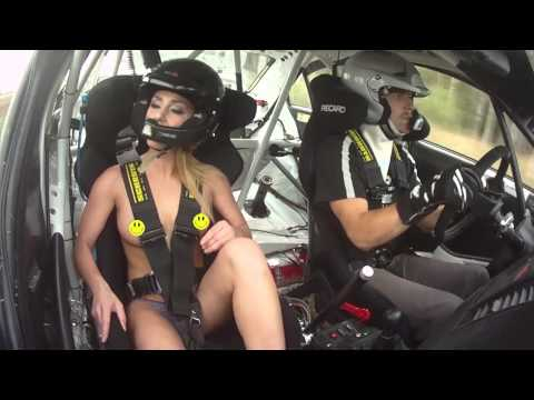 Andis Neiksans testing hot russian models in rally car