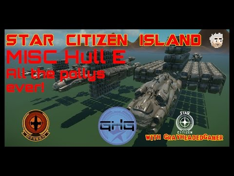 Star Citizen Island - MISC Hull E size comparison