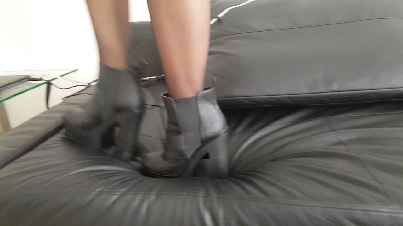 Request Heels On Leather Bench Youtube