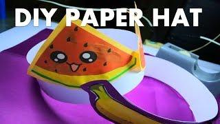 HEADDRESS NUTRITION MONTH EASY/DIY PAPER HAT