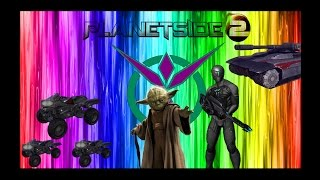 PLANETSIDE 2 FUNNY MOMENT   Ep  3 , N0SC0P3 LVL 100 , remote flash C4 , Use the force !!