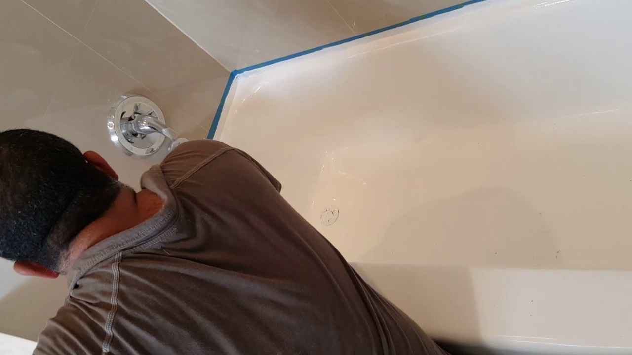 Awesome Painting Bathtub Thick How To Paint Tub Flat Bathtub Reglazing Service Bathtub Glazing Old Tile Resurfacing Cost OrangeBathroom Tile Refinishing Cost How To Paint A Bathtub   YouTube