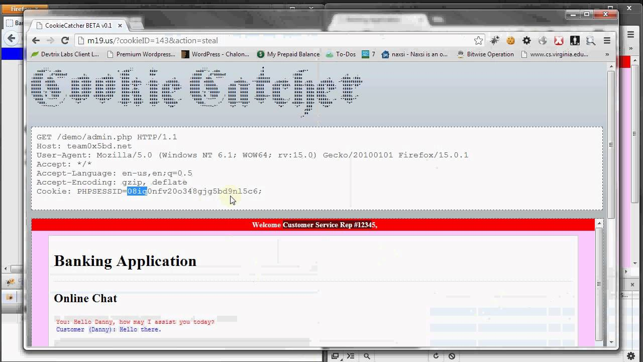CookieCatcher - Tool For Hijacking Sessions Using XSS