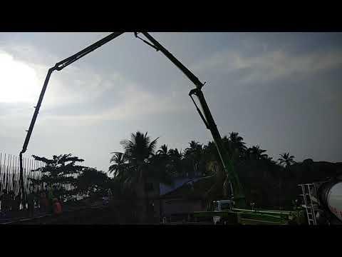 Zuari Bridge Concrete running for pile cap P - 71(29.5*11.5*3)