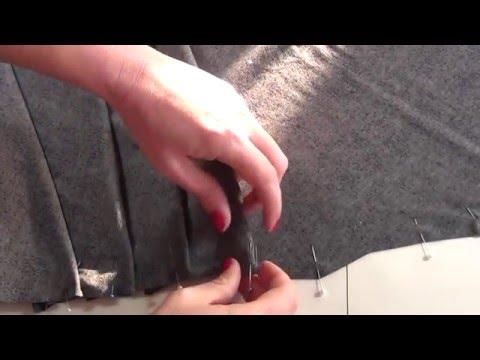 How to mark and fold pleats (Here: Drape Pleats)