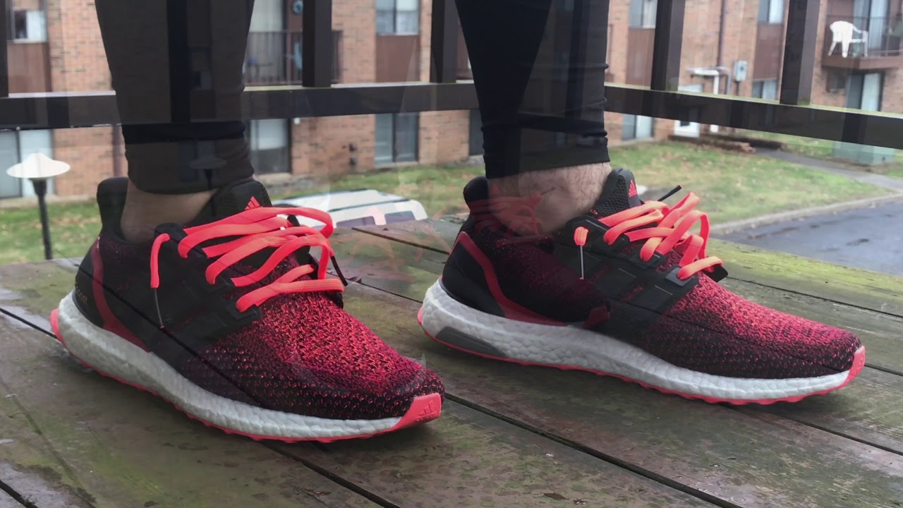 a4d4ee040 Solar Red Adidas Ultra Boost 2.0 - YouTube