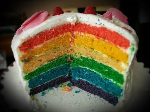 Cake Design Recette Facile : Recette facile du rainbow cake - Clickncook.fr - YouTube