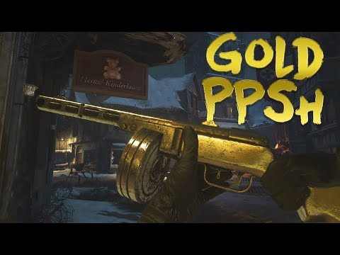 Treyarch Gold Classic PPSH-41 Easter Egg in WWII Zombies Walkthrough Tutorial!