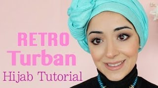 Retro Turban Tying Hijab Tutorial - Chemo Cap Scarf Tutorial For Cancer Patients Thumbnail