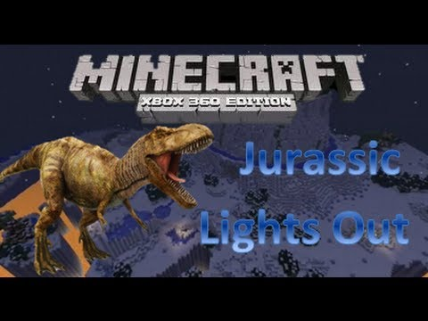 Minecraft xbox 360 Hunger Games   Jurassic Lights Out by