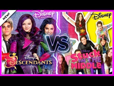 Disney Decendants 2 VS Stuck in the Middle Musical.ly Battle | Top Disney Stars Musically 2017