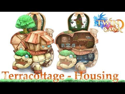 Twin Saga   Housing, crafting, gathering, Senshi daily quests   Terracottage