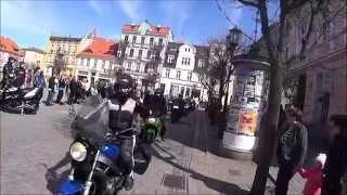 Rozpoczęcie sezonu motocyklowego Gniezno 2015 cala parada