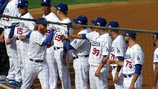 Dodger Players Introduced Before NLDS Today 10-3-2014