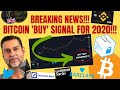 BREAKING NEWS! BITCOIN 'BUY' SIGNAL FOR 2020!  Chainlink GAINS!Binance Crypto Debit Card Buy ETH?