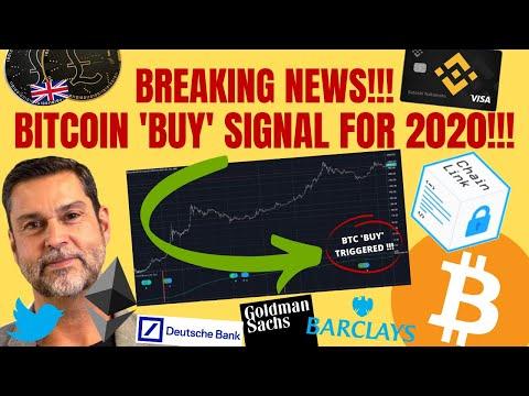 BREAKING NEWS! BITCOIN 'BUY' SIGNAL FOR 2020!   Chainlink GAINS! Binance Crypto Debit Card  Buy ETH?