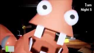 Все скримеры Five Night at Krusty Krub  All jumpscare SpangeBob,Patrick,Sandy