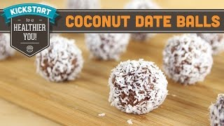 2 Ingredient Coconut Date Balls! - Mind Over Munch Kickstart Series