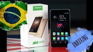 Leagoo M8 -Unboxing BRASIL - Menos de 300,00 REAIS celular TOP