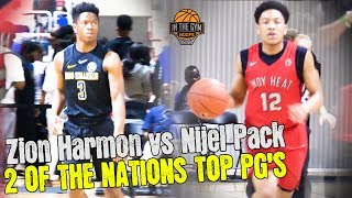 Nike EYBLSession 1 Indy Heat Nijel Pack vs Boo Williams Zion Harmon - 2 Of The Top PG's At EYBL