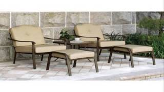 Mainstays Brookwood Landing 5-Piece Outdoor Leisure Set Tan