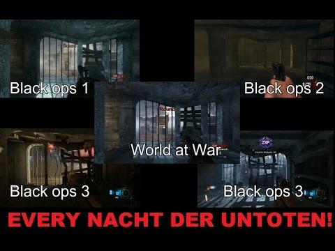 COD: Every NACHT DER UNTOTEN Comparison! Chronicles, World at War, Black ops 1, 2, & 3