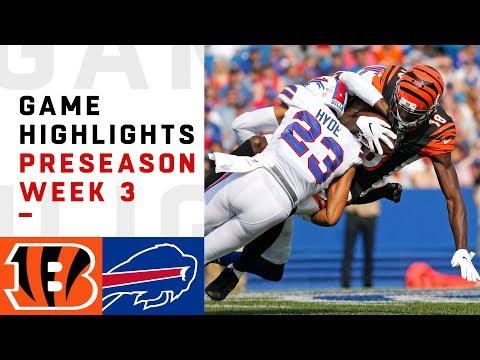 Bengals vs. Bills Highlights | NFL 2018 Preseason Week 3