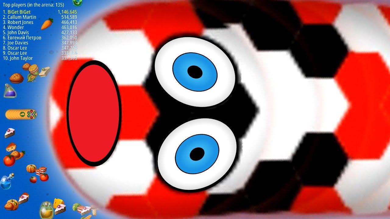 WormsZone.io 001 Slither Snake Top 01 /Best World Record Epic WormsZoneio Gameplay Moments #35