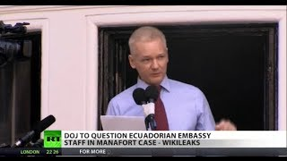DOJ Looking into Alleged Assange/Manafort Meeting